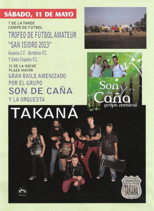 """Programación """"FERIA DE SAN ISIDRO 2013"""" en MESAS DEL GUADALORA. - Haz """"clic"""" en la imagen para ampliar."""