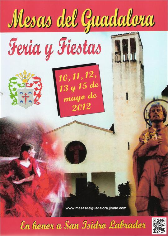 """Cartel """"Feria de San Isidro Labrador 2012"""" en MESAS DEL GUADALORA. - Haz """"clic"""" en la imagen para ampliar."""
