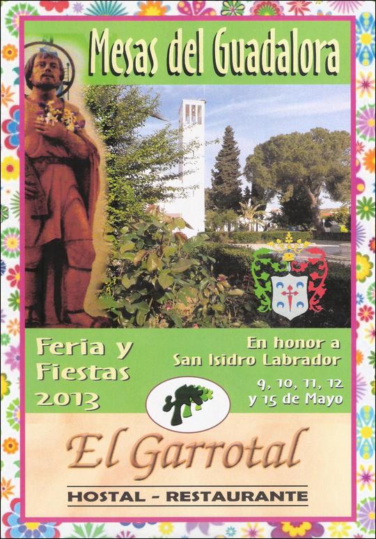 """Cartel """"Feria de San Isidro Labrador 2013"""" en MESAS DEL GUADALORA. - Haz """"clic"""" en la imagen para ampliar."""