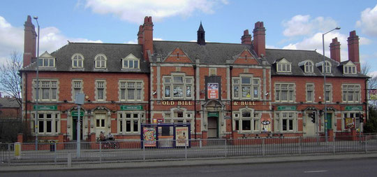 The former police station on the Coventry Road at South Yardley, now the Old Bill and Bull public house