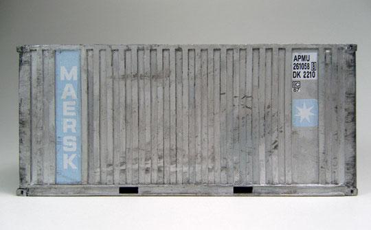 Ein 20' Dry Container  im typischen  1980er Design  von Maersk.