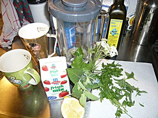 buttermilch-smoothie mit kräutern