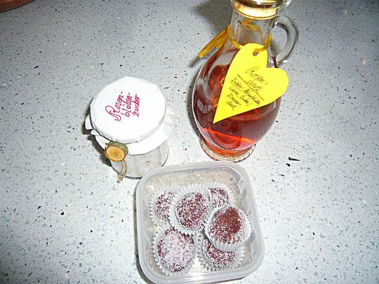 rosenblütenkonfekt
