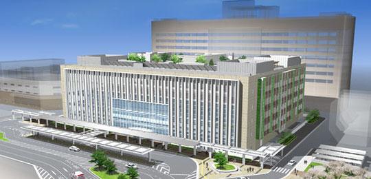 広島大学病院 新外来棟完成図