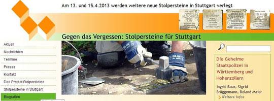 Gegen das Vergessen: Stolpersteine in Stuttgart