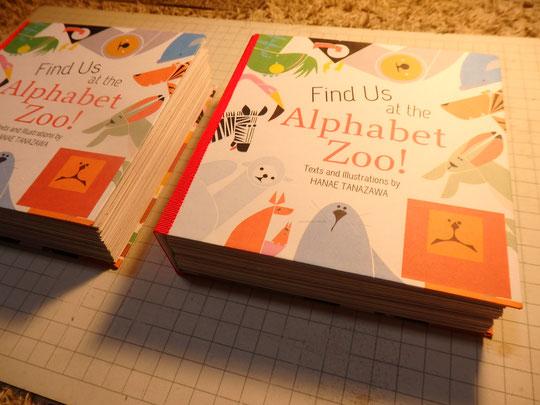 すごく時間かかってやっと2冊・・・。Takes so long to make one!