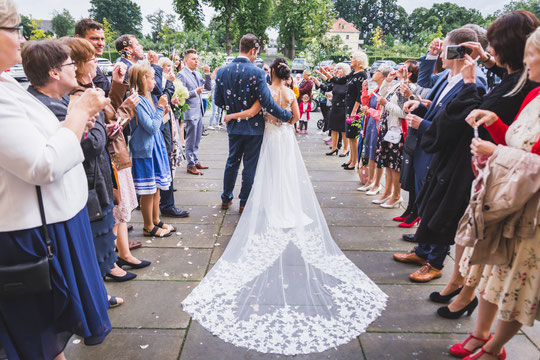 Hochzeitsshooting mit Diana und Felix im Schlosspark Lampertswalde bei Oschatz.