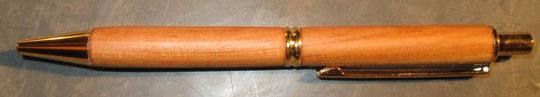 Klickkugelschreiber aus Apfelbaum-Holz