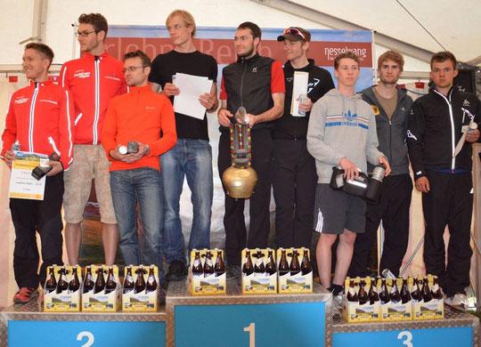 2. Rang in der Mannschaft mit Thomas und Florian