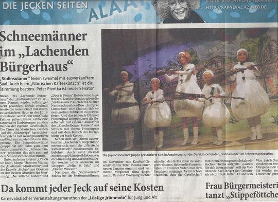Dürener Zeitung vom 16.02.2012