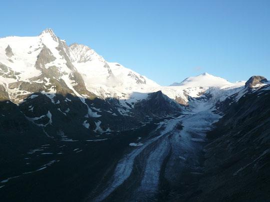 グロースグロックナーとパステルツェ氷河