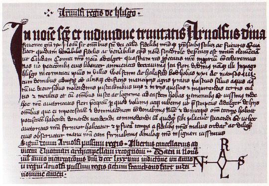 Erste urkundliche Erwähnung Wulftens im Jahre 889