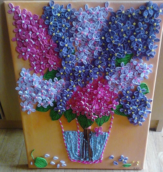 Paper - Quilling - Flieder - Lilac