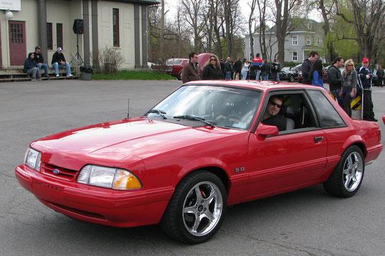 Mustang '93 d'Érick Lamoureux fils d'André plus haut (tel père, tel fils)