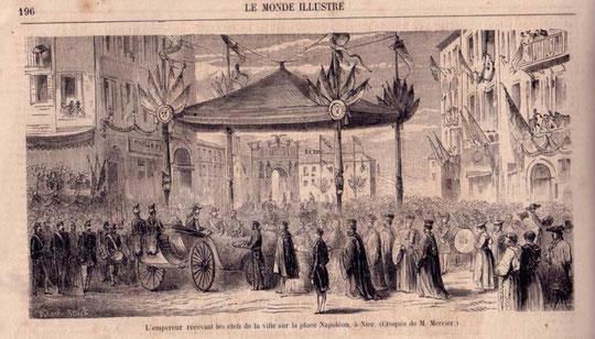 """Rattachement """"dédition"""" volontaire de Nice à la Savoie en 1388, puis annexion de Nice par la France  en 1860."""