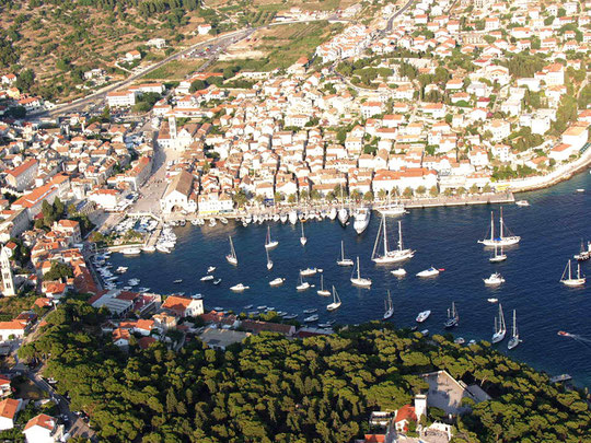 Aerial view of the harbour