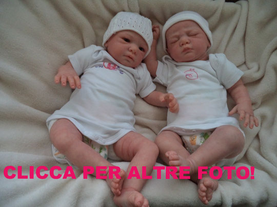 REBORN BABY CASPAR e NICKY Christa Gotzen