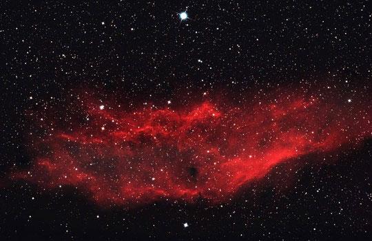 California-Nebel NGC 1499 mit 500mm aufgenommen