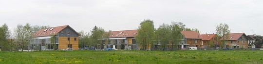 Reihenhäuser ökologisch KfW40 (EnEV 2004)