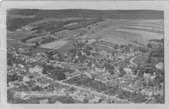 Hörrersdorf: Fliegeraufnahme 1942 - Foto von Gertrude Schmidt
