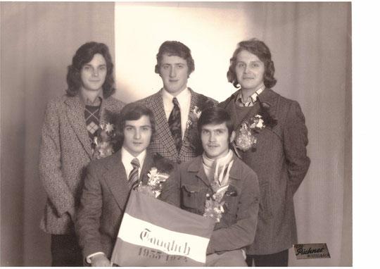Jahrgang 1955: Herbert Krejci, Franz Gloner, Herbert Weiss, Franz Strobl, u. Josef Hauser