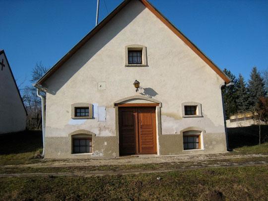 Untere Kellergasse - Presshaus mit Baumpresse von Walter Schießer (vormals Josef Thalhammer)