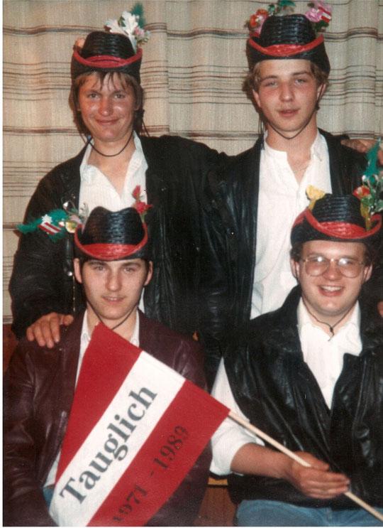 Jahrgang 1971: Erich Bogner, Richard Bittner, Johannes Eichelberger und Roman Gschwindl