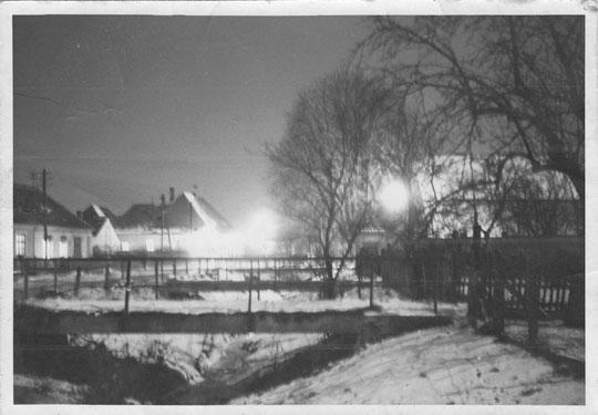 Hörersdorf mit seinen vielen Brücken im Jänner 1961 - Foto von Gertrude Schmidt