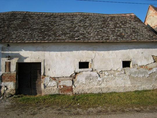 Obere Kellergasse - Presshaus mit Baumpresse von Joachim Rossak (vormals Johann Bößmüller)