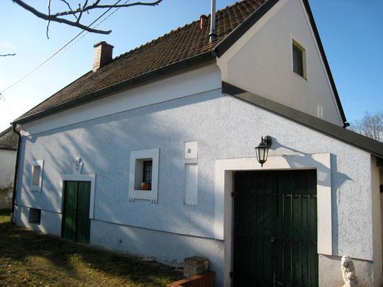 Untere Kellergasse - Presshaus mit Baumpresse von Wilfried Sock (vormalls Kerzendorfer)