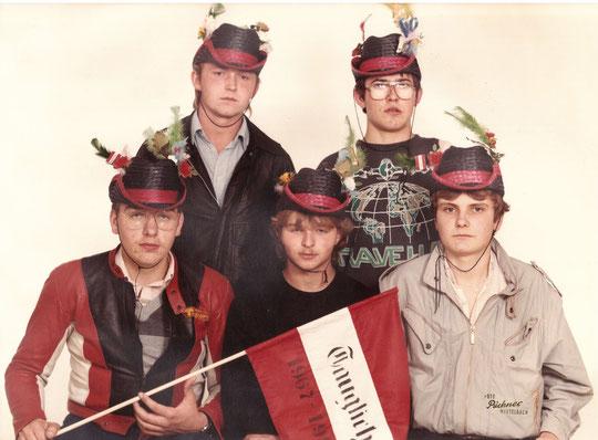 Jahrgang 1967: Alfred Lehner, Christian Bittner, Robert Eichelberger, Erwin Reyländer und Gerhard Baumgartner