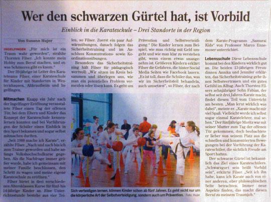 stimme karate Hohenloher Zeitung
