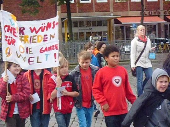 16. Kinder-Friedenstreffen in Münster 2013 , Foto: Werner Klöpper