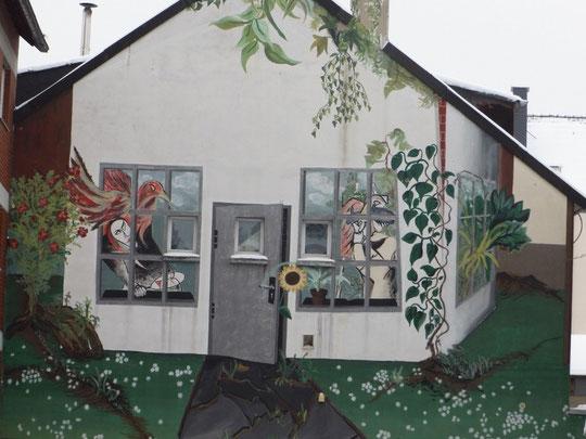 Wandmalerei im Südviertel in Münster, WK