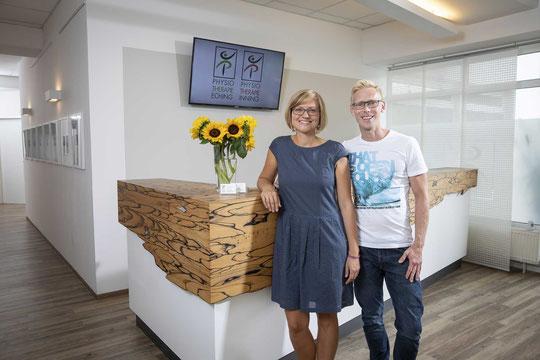 Michael Parockinger (Inhaber und Physiotherapeut) und Eva Parockinger (Inhaberin und Organisation)
