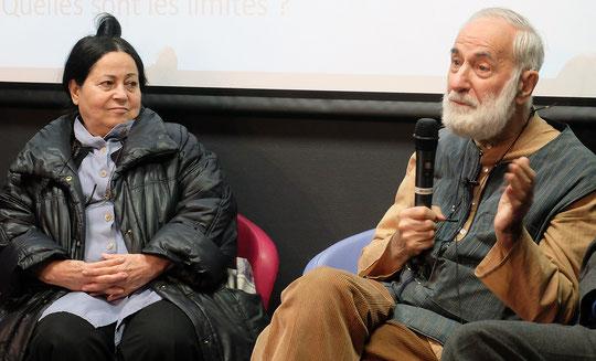 Roland et Sabrina Michaud an conférence à Montélima défendant leur sagesse acquise par leurs voyages en Orient