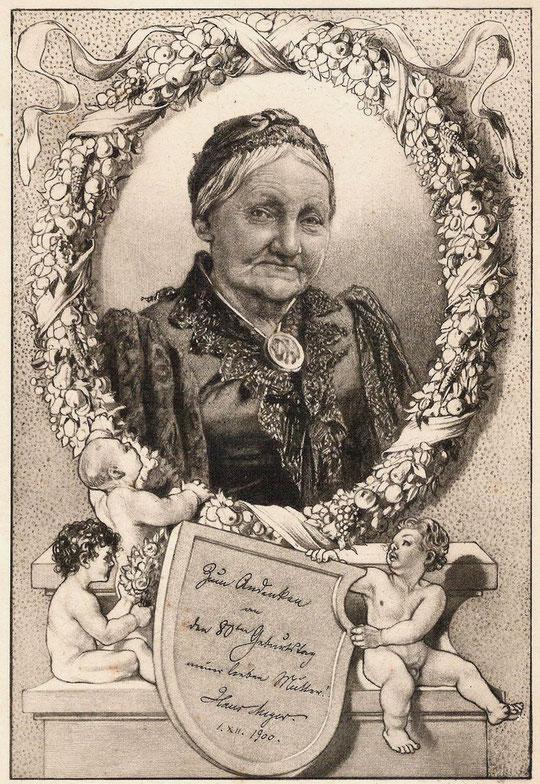 H.M. seiner Mutter Elise Meyer geb.Müller zum 80sten Geburtstag am 1.12.1900