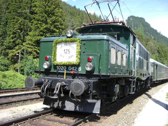 Sonderzug anlässlich 125 Jahre Arlbergbahn am 14.6.2009 in Wald am Arlberg