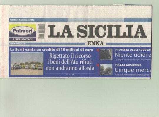 LA SICILIA - Martedì 3 gennaio 2012