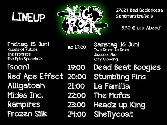 Lineup Nigrock 2012 in Bad Bederkesa