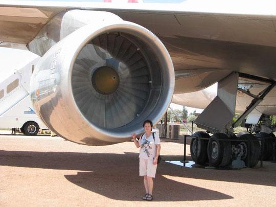 Das Triebwerk einer Boing 747