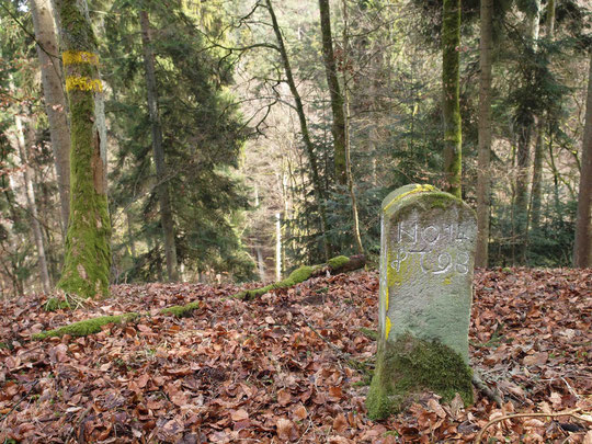 Grenze Boll / Aistaig / Sigmarswangen von 1798