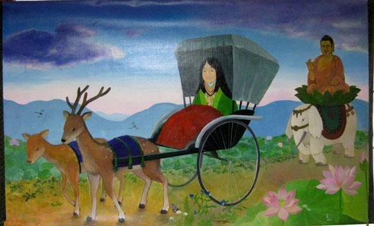素材:キャンバスにアキーラ絵の具 M80号