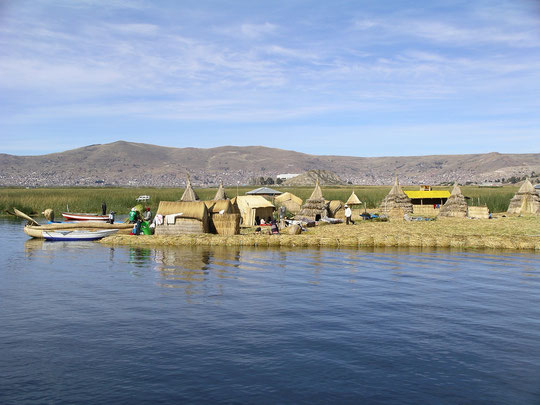 Titicacasee, die schwimmenden Inseln von Uros