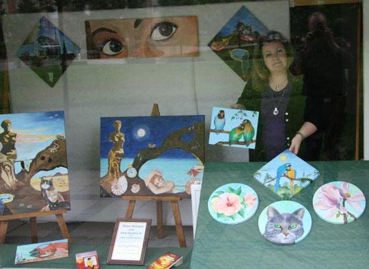 1.September 2010 - beim Dekorieren der Kunstschaufenster