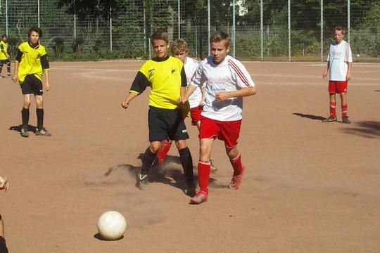 TuS C1 im Spiel gegen SuS Haarzopf. (Foto: mal).