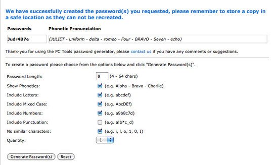 créer un mot de passe