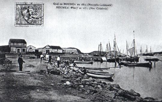 X - QUAI DE NOUMÉA EN 1875.