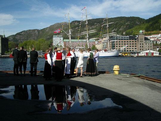 Am Hafen von Bergen