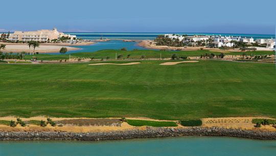 Golfplatzausschnitt El Gouna